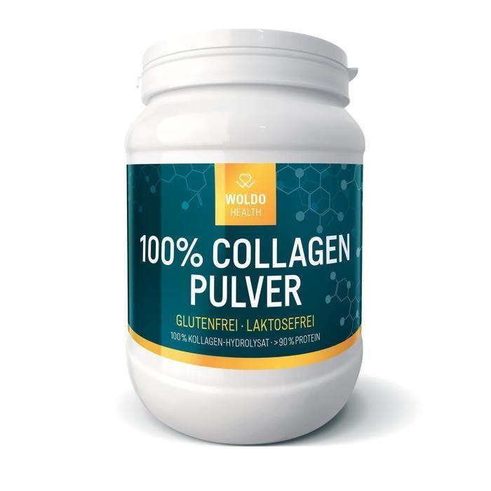 WoldoHealth Protéine en poudre au Collagène 100% de hydrolysé 500g: Hygiène et Soins du corps