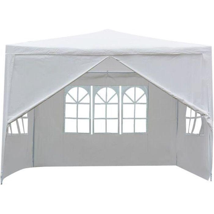 Tonnelle Pliante de jardin, Tente de réception 3x3x3m , Pavillon, Chapiteau pour Jardin fête HB035 -YNF