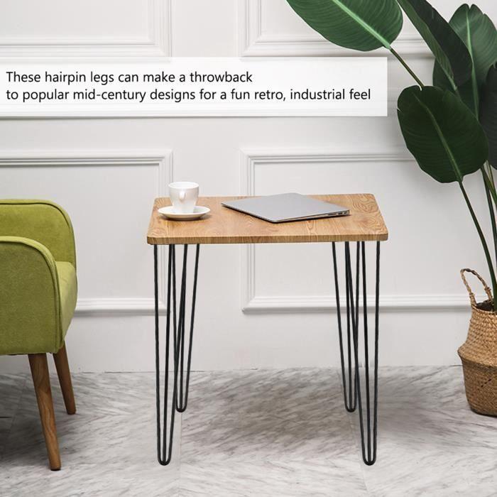 Nouvelle Arrivee HB037 4 pièces - ensemble 28 pouces - 30 pouces épingle à cheveux meubles en métal pieds de table bureau