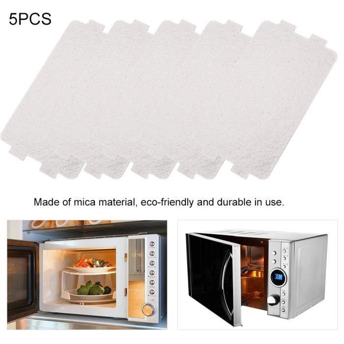 5PCS Plaque mica pour Four micro ondes Accessoire de réparation de la plaque de mica de four à micro-ondes