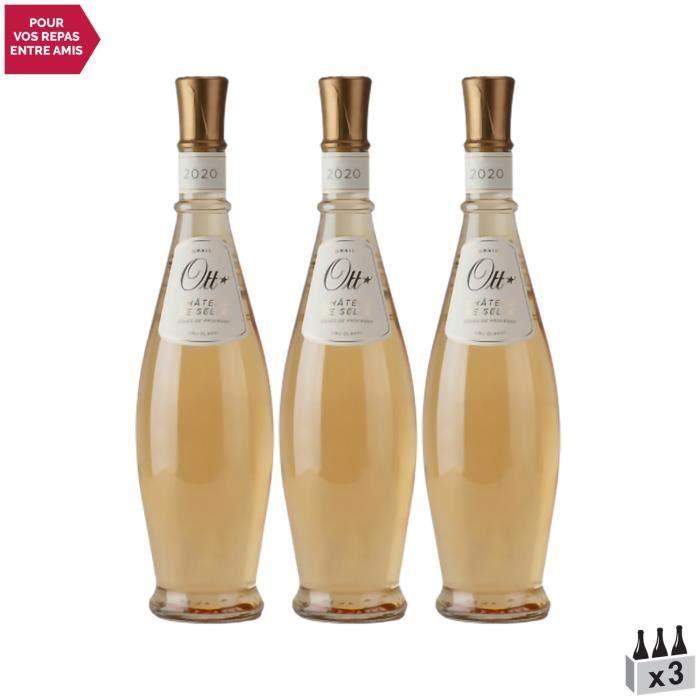 Côtes de Provence Château de Selle Coeur de grain Rosé 2020 - Lot de 3x75cl - Domaines OTT - Vin AOC Rosé de Provence