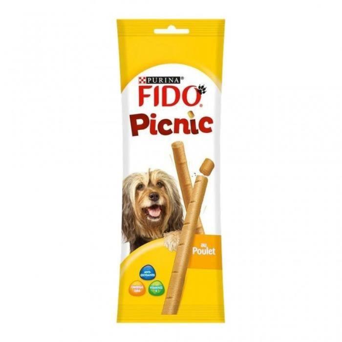 Fido Picnic au Poulet 5 Sticks 42g (lot de 10)
