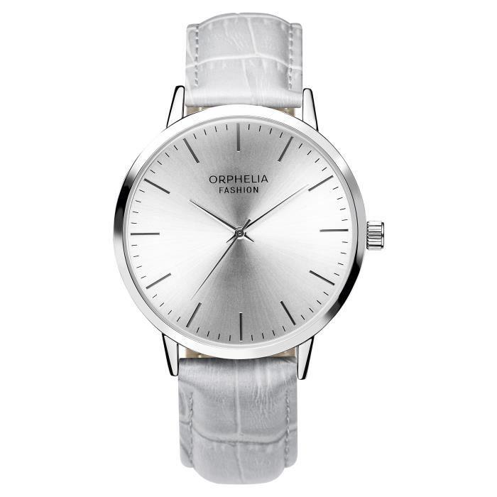 Orphelia Fashion - Montre Homme - Quartz Analogique - Bracelet Cuir Gris - OF711809