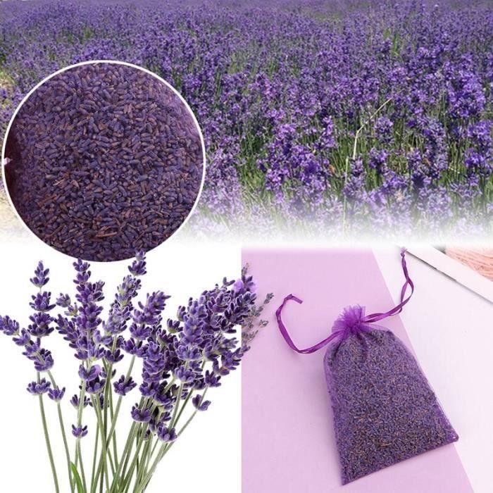 Sachet de fleur séchée par bourgeon naturel de lavande sac aromathérapie Air aromatique rafraîchir sacs de Sachets de parfum à la