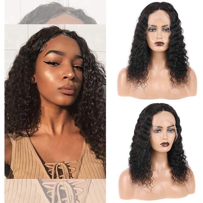 T-Part Lace Front Wigs Perruque Deep Wave Perruques de cheveux brésiliens 13×5×0,5 T Partie médiane Perruque profonde et bouclée p