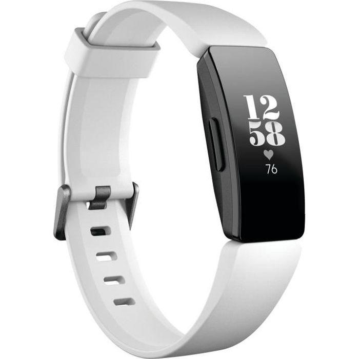 FITBIT INSPIRE HR Bracelet connecté pour la forme au quotidien - Noir et Blanc