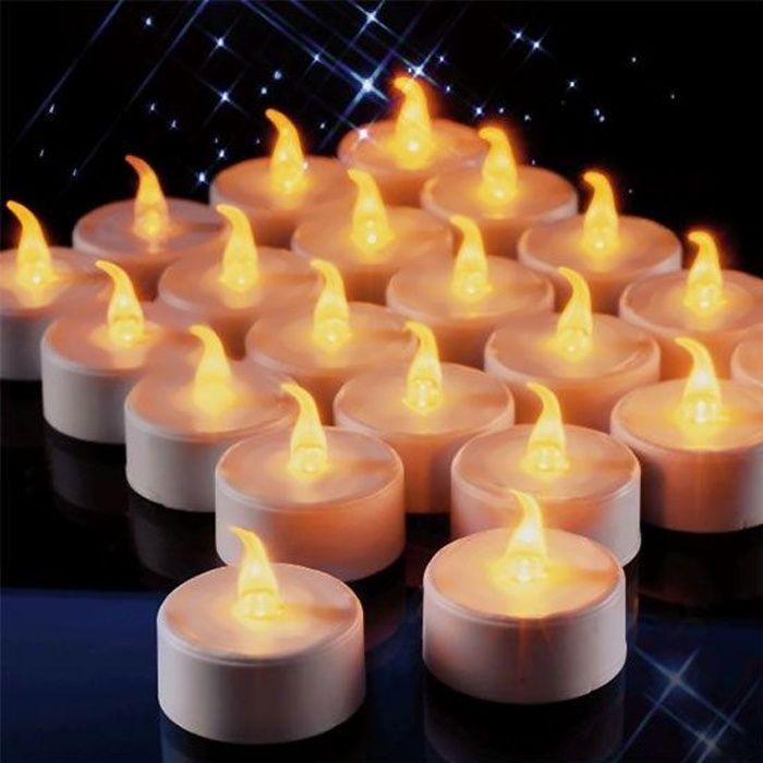 Lot 18 bougies LED sans flamme - Bougie sans
