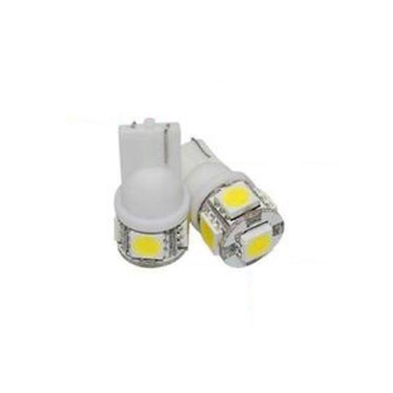 Paire d'ampoules 1SMD T10 wedge - 24V - Blanc