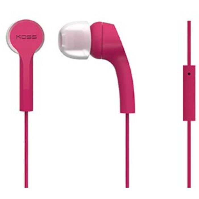 KOSS Casque intra auriculaires stéréo KEB/9iP - Rose