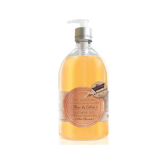 Gel douche Fleur de Coton les PETITS BAINS de Provence (500 ml).