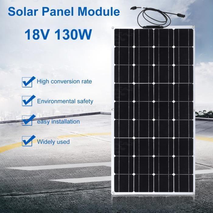 panneau solaire 130w chargeant pour le bateau hors réseau module de système d'alimentation