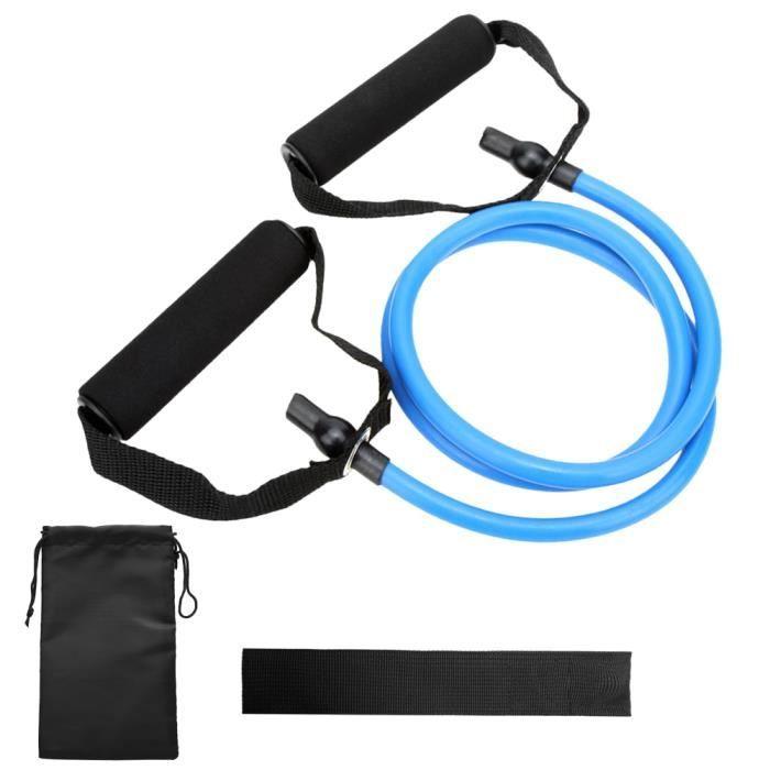 Bandes de tube de tonification de résistance Bande d'exercice élastique d'entraînement physique avec ancrage de porte et sac de -86