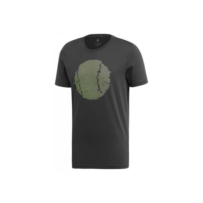 T-Shirt ADIDAS Homme FLUSHING GFX Noir / Vert AH 2019