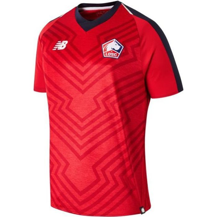 LOSC Maillot de football Homme Rouge New Balance