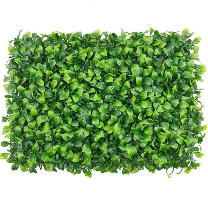 Artificielle panneau de couverture Plante artificielle mur Ivy clôture écran Faux Herbe Lysimachia Vert