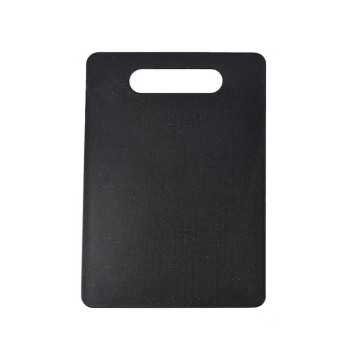 Planche à découper matérielle PP de ménage Planche à découper rectangulaire antidérapante Planche à découper portative-noir