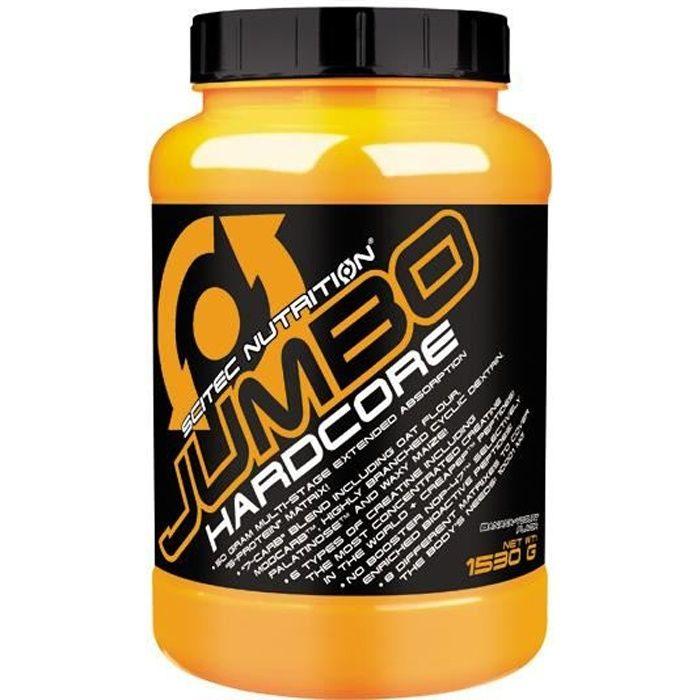 Jumbo hardcore 1530g BANANE - Scitec Proteine Gainer Creatine Whey