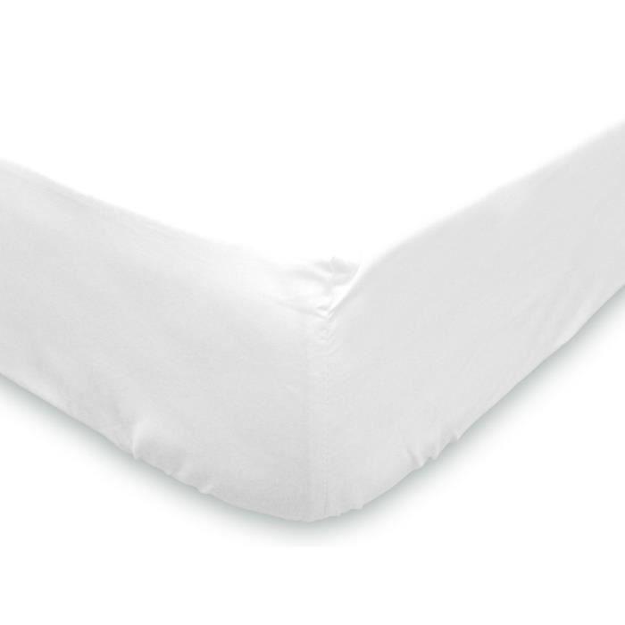 SOLEIL D'OCRE Protège-matelas molleton 90x190 cm blanc