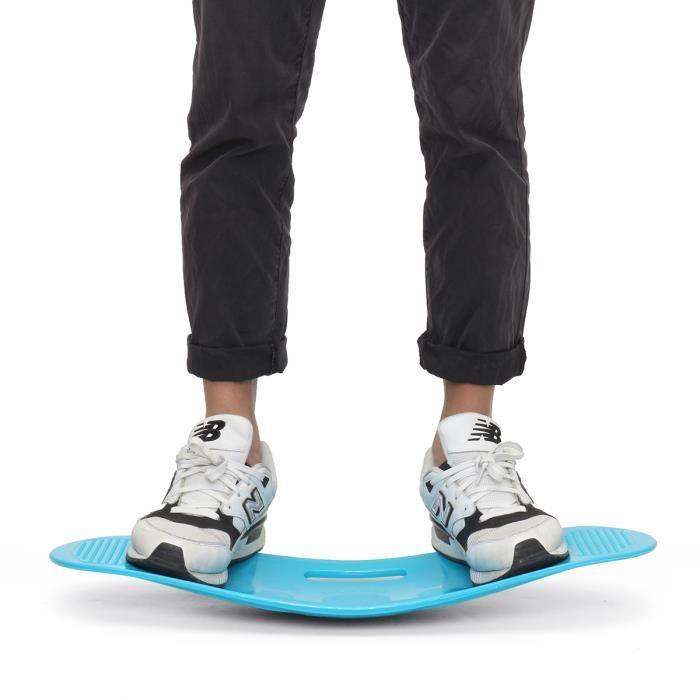TEMPSA Unisexe fitness planches d'exercices entraînement Balance équilibrage 60X25cm BLEU