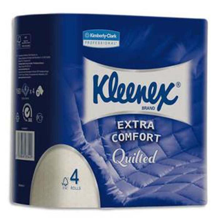 Lot de 6 Paquets de 4 rouleaux de papier toilette 4 plis 160 formats coloris blanc