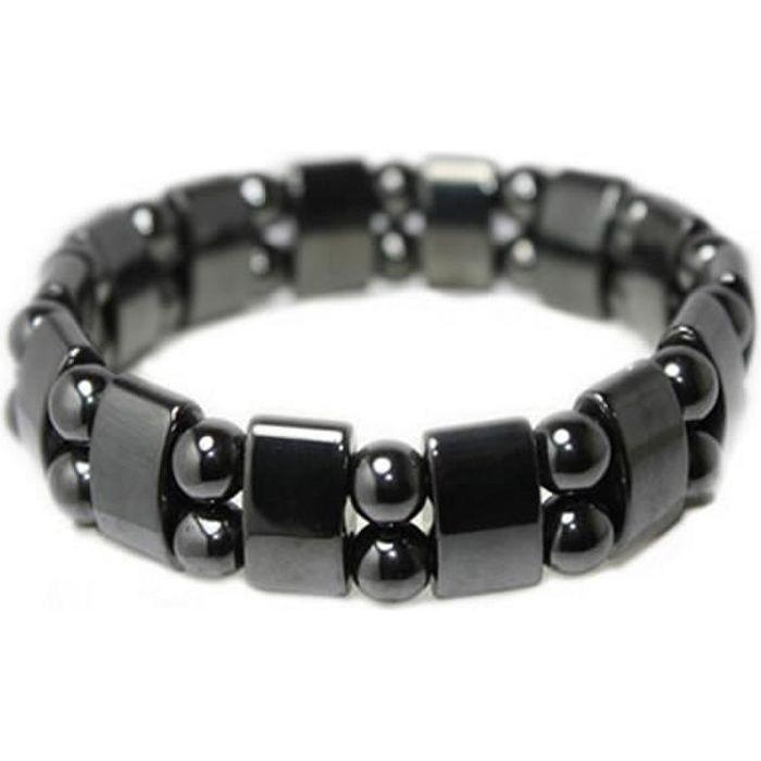 bracelet homme en titane incrustation carbone aimant de 2000g magnetique