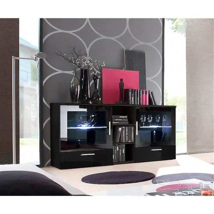 buffet design syra enfilade laqu bahut avec led meuble id al pour votre salon ou chambre. Black Bedroom Furniture Sets. Home Design Ideas