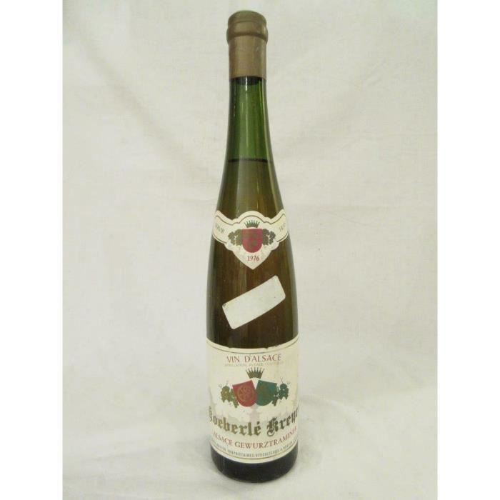 VIN BLANC gewurztraminer koeberle-kreyer blanc 1976 - alsace