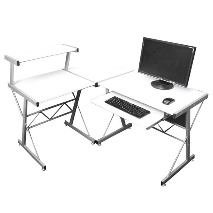 table de bureau et d ordinateur nevada blanc h achat vente bureau table de bureau