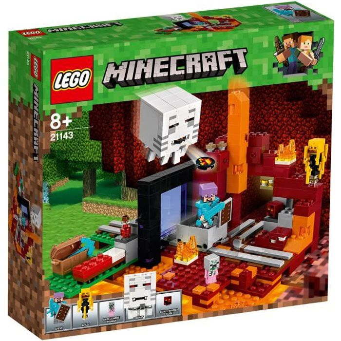 Photo de lego-21143-minecraft-tm-le-portail-du-nether-aille-unique-coloris-unique
