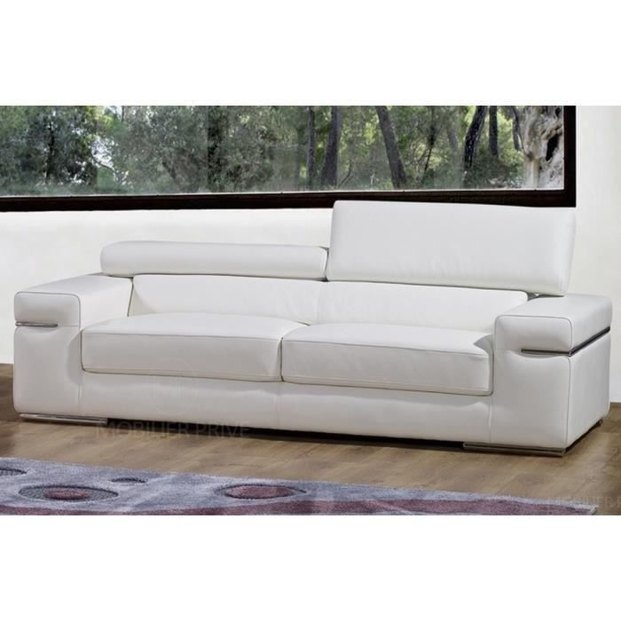 canap 2 places en cuir italien alonso achat vente canap sofa divan cdiscount. Black Bedroom Furniture Sets. Home Design Ideas