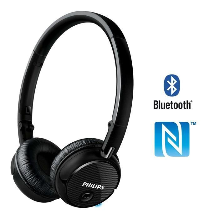 philips shb6250 casque audio bluetooth nfc noir casque. Black Bedroom Furniture Sets. Home Design Ideas