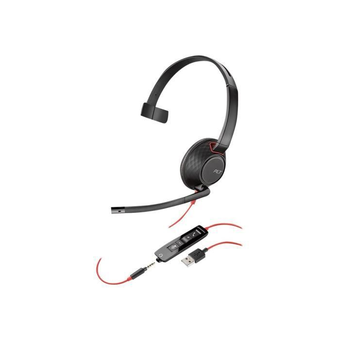 Plantronics Blackwire 5210 5200 Series Casque Sur-oreille Filaire Usb, Jack 3,5mm