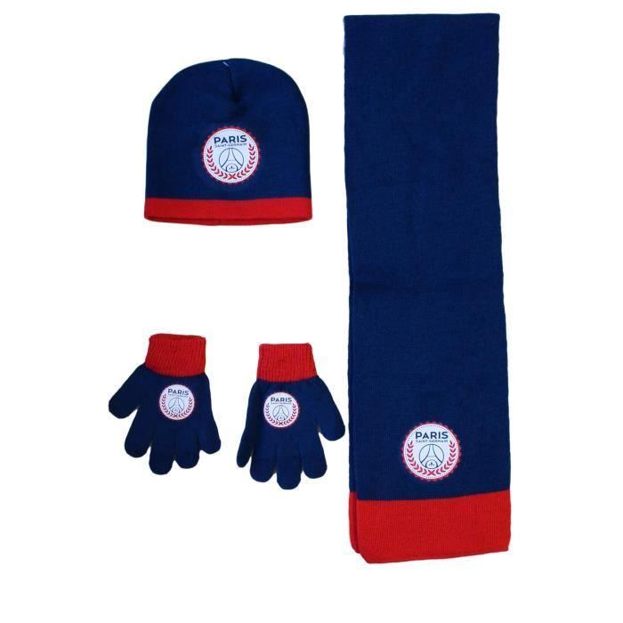 BONNET - CAGOULE PSG ensemble bonnet echarpe gant paris saint germa