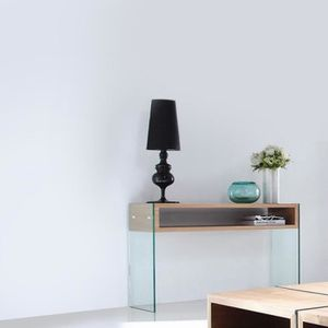console verre trempe achat vente console verre trempe pas cher cdiscount. Black Bedroom Furniture Sets. Home Design Ideas