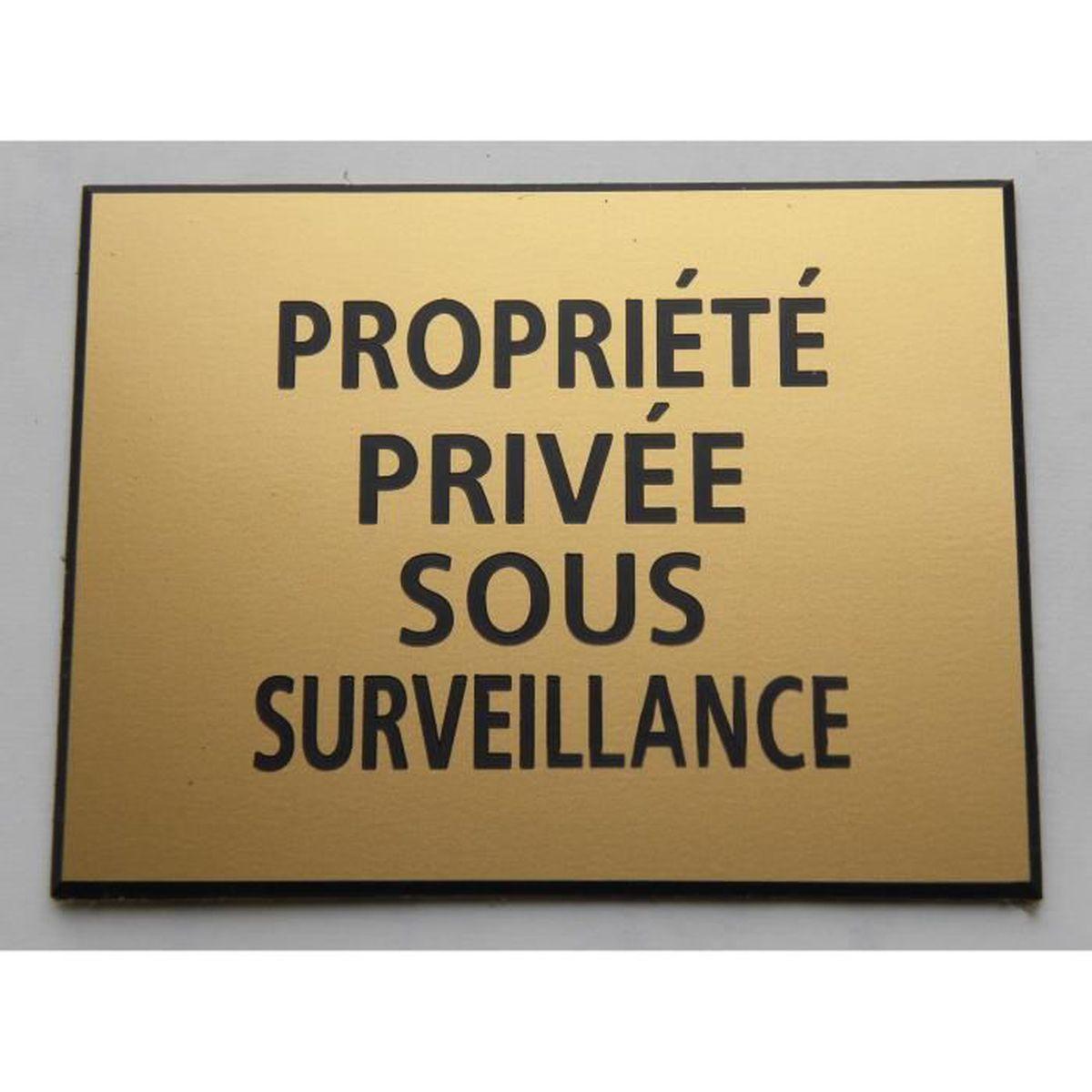 plaque gravée PROPRIÉTÉ PRIVÉE SIGNALETIQUE Format 50 x 75 mm