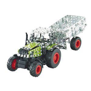 TRACTEUR - CHANTIER 9501 - Tracteur Claas Axion 850 Avec Remorque - Ra