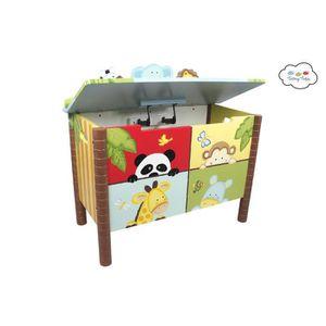 COFFRE À JOUETS Coffre à jouets meuble banc de rangement en bois c