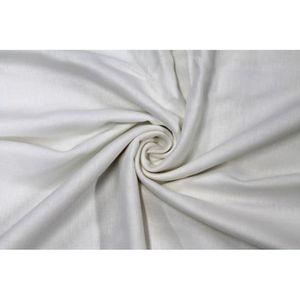 TISSU Tissu Lin Viscose Blanc -Au Mètre