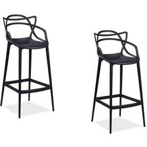 CHAISE Master Lot de 4 chaises blanches inspirée Bureau S