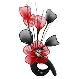 VASE - SOLIFLORE Flourish Vase QH1 Fleur-Rouge/noir