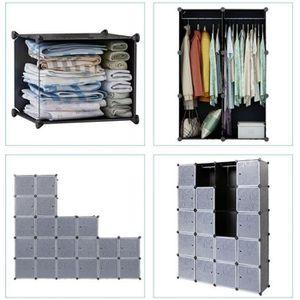 ARMOIRE DE CHAMBRE Meuble de Rangement 20 Cubes pour Décoration Jouet