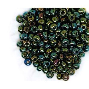 20g de Perles de Rocaille Rondes 2mm en Verre Opaque lustré Vert