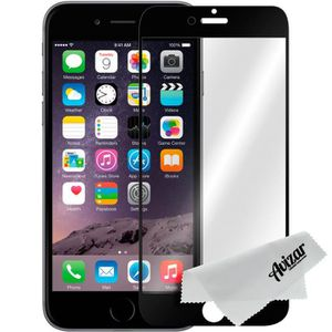 FILM PROTECT. TÉLÉPHONE Film Ecran Verre Trempé Apple iPhone 6 Plus - Noir