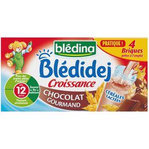 LAIT BÉBÉ BLEDINA  Blédidej Croissance Lait et céréales choc