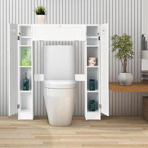COLONNE - ARMOIRE WC COSTWAY Meuble WC Meuble de Rangement pour Toilett