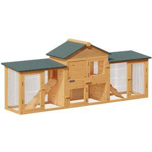 CLAPIER Clapier à lapin cage rongeurs modulable 2 étages