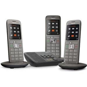 Téléphone fixe Gigaset CL660A Trio Anthracite - Téléphone DECT -
