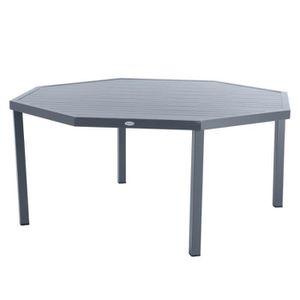 TABLE DE JARDIN  Table octogonale Piazza ardoise Hespéride