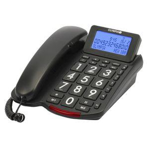 Téléphone fixe OLYMPIA 4210 Téléphone de confort avec grosses tou