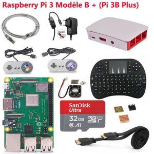 CARTE MÈRE Raspberry Pi 3 Model B+ (Pi 3 B Plus) SD 32Go Retr